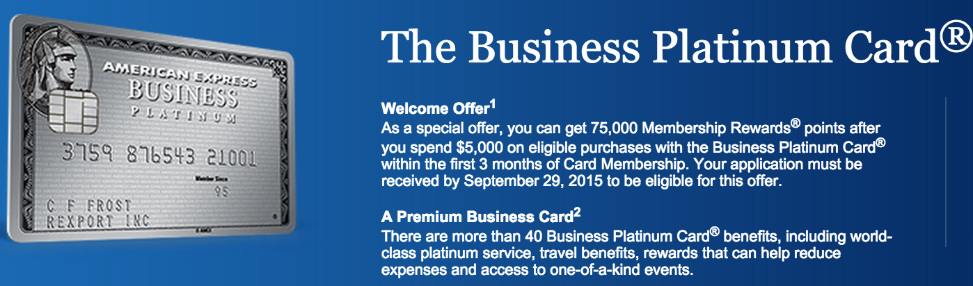 75,000 Point Offer Is Back For Amex Business Gold And Business ...